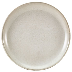 """Terra Porcelain Coupe Plates Grey 9.4"""" / 24cm"""