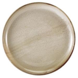 """Terra Porcelain Coupe Plates Grey 10.8"""" / 27.5cm"""