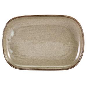"Terra Porcelain Rectangular Plates Grey 9.4"" / 24cm"