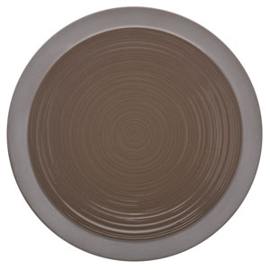 "Bahia Round Dinner Plates Brown Basalt 9"" / 23cm"