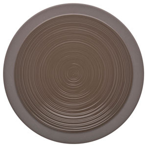"Bahia Round Dinner Plates Brown Basalt 10.2"" / 26cm"
