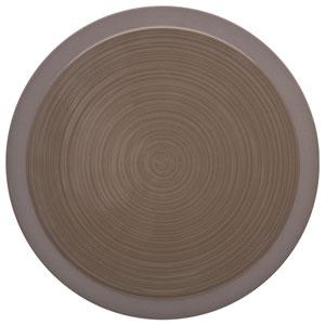 "Bahia Round Dinner Plates Brown Basalt 11.4"" / 29cm"