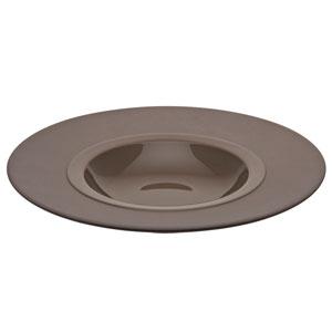 "Bahia Round Gourmet Plates Brown Basalt 9"" / 23cm"