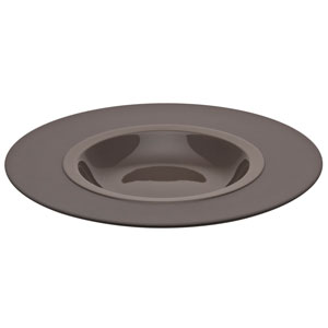 "Bahia Round Pasta Plates Brown Basalt 10.2"" / 26cm"