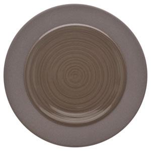 "Bahia Round Bread & Butter Plates Brown Basalt 5.5"" / 14cm"