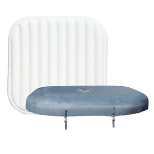 Lay Z Spa Hawaii Hydrojet Pro Top Leatheroid Cover and Top Inflatable Cover