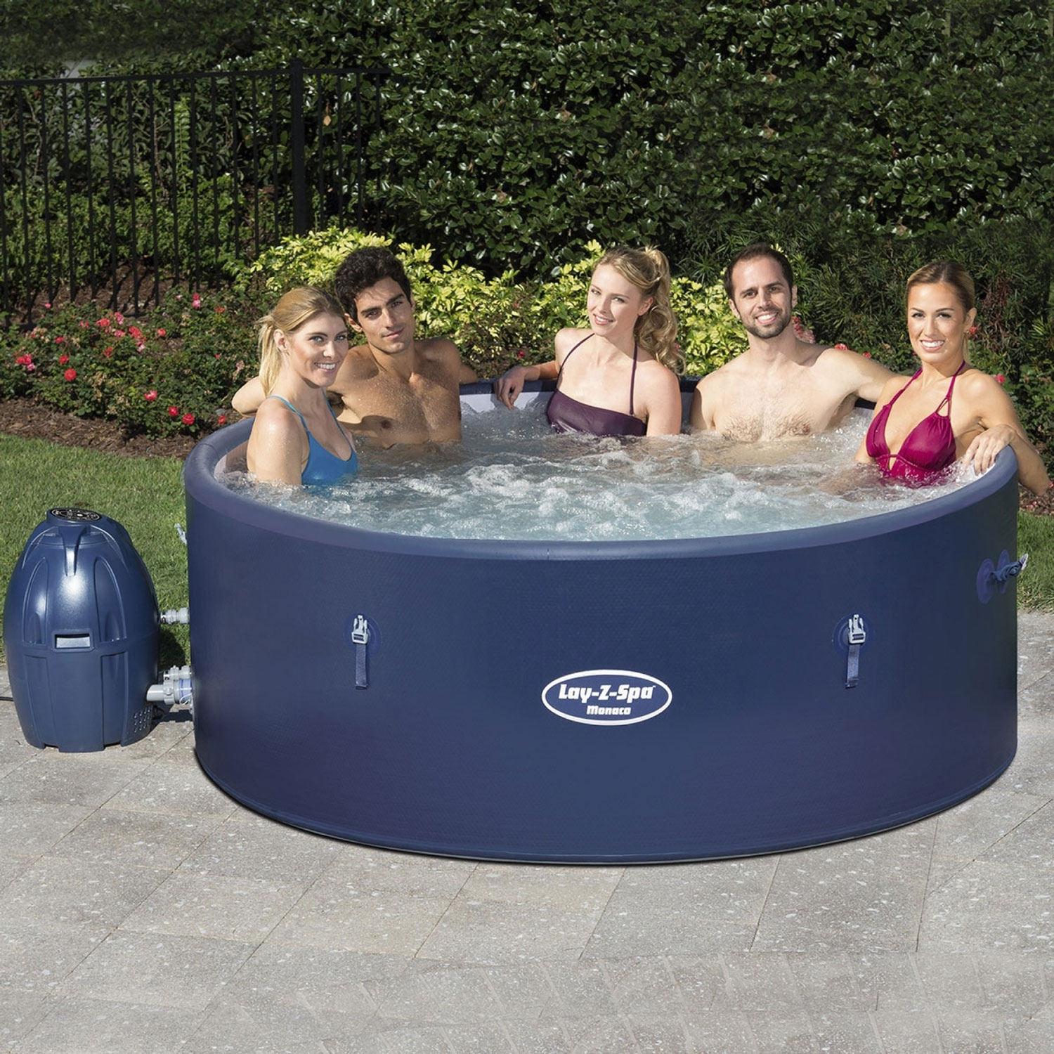 lay z spa monaco airjet inflatable hot tub at drinkstuff. Black Bedroom Furniture Sets. Home Design Ideas