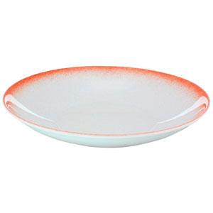"""Ombré Deep Coupe Plates Coral 7"""" / 18cm"""