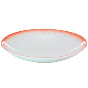 """Ombré Deep Coupe Plates Coral 9.4"""" / 24cm"""
