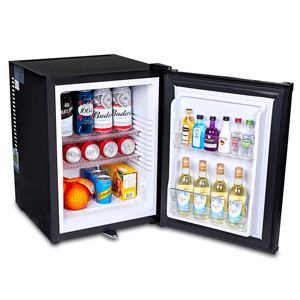 ChillQuiet Silent Mini Bar Fridge 40ltr Black