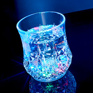Liquid Activated Flashing Carats Tumbler 6oz / 170ml