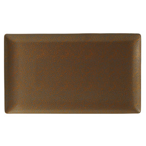 Purity Pearls Gold Rectangular Plates 13inch / 34cm