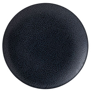 Purity Pearls Dark Coupe Plates 12inch / 31cm