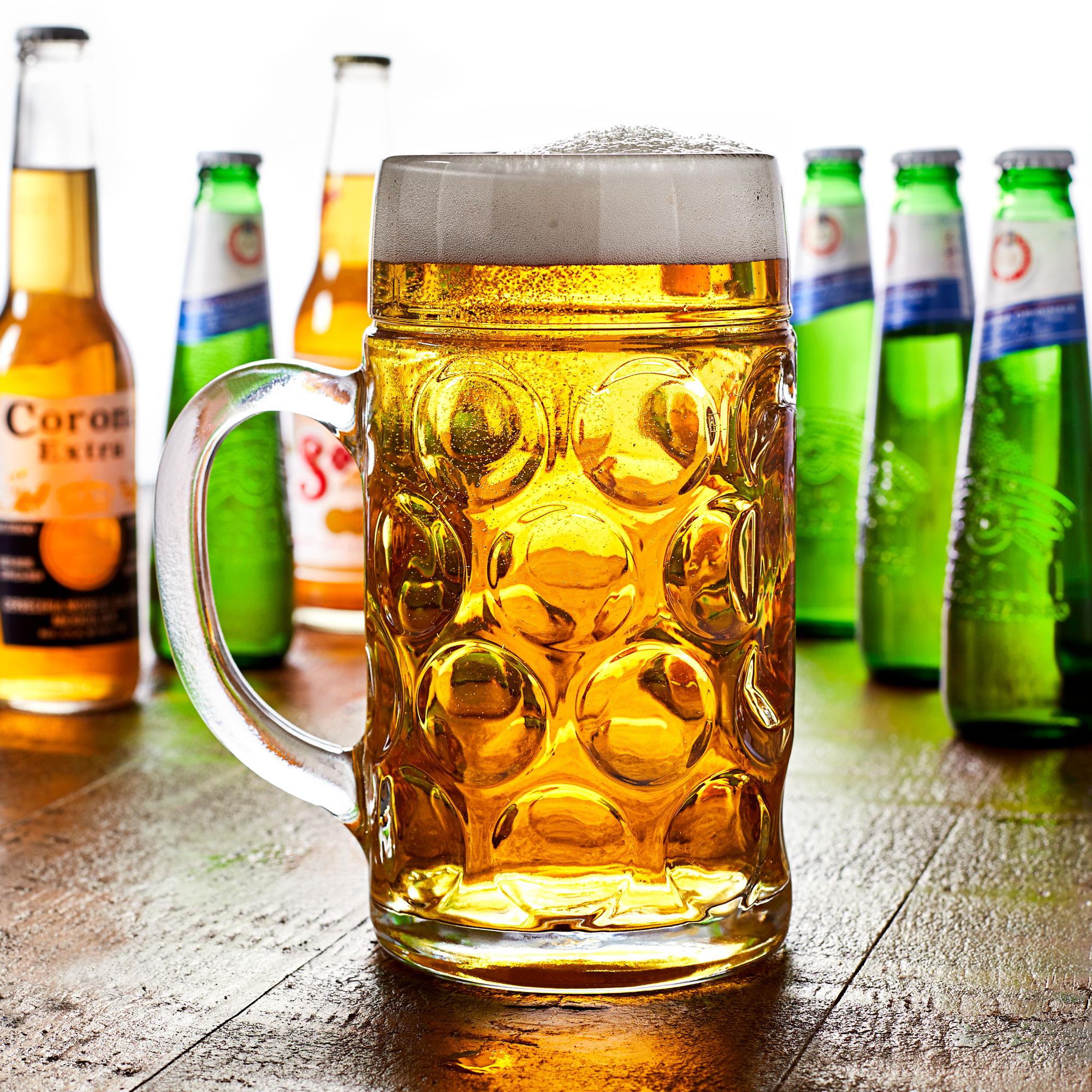 3a2ffc97a5c German Beer Stein Glass 2 Pint   1.4 ltr
