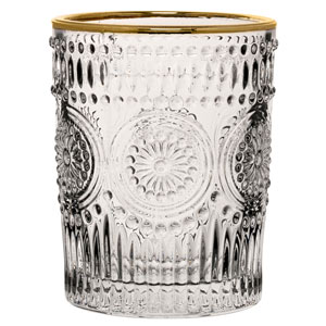 Rossetti Double Old Fashioned Gold Glasses 10.25oz / 290ml