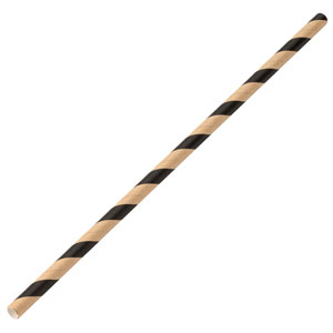 Brown & Black Paper Straws 8inch