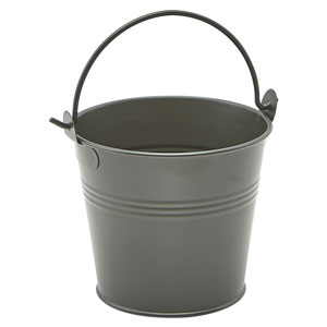 Dark Olive Galvanised Steel Serving Bucket 3.9inch / 10cm