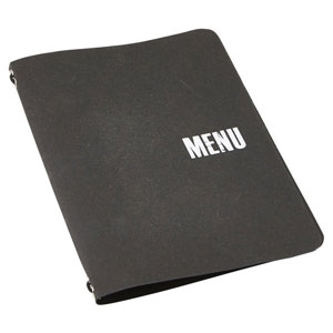 Washable Paper A5 Menu Holder Black