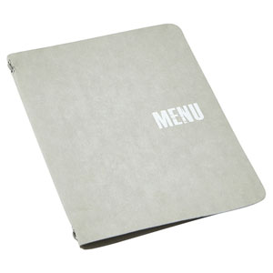 Washable Paper A5 Menu Holder Grey