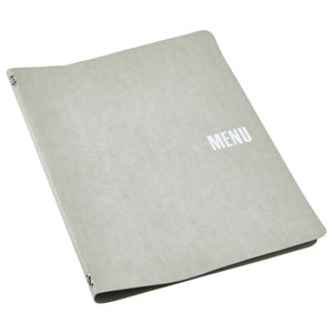 Washable Paper A4 Menu Holder Grey