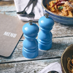 Blue Genware Salt or Pepper Grinder