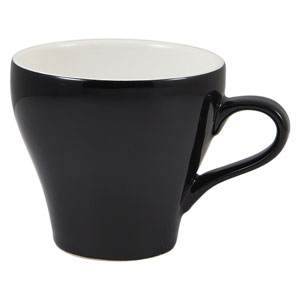 Royal Genware Tulip Cup Black 12.25oz / 350ml