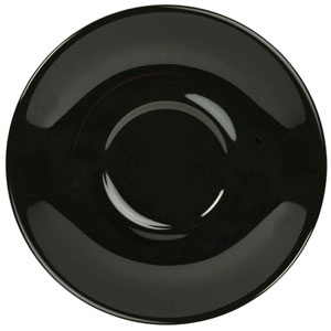 Royal Genware Saucer Black 5.7inch / 14.5cm