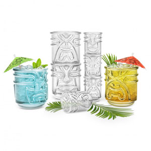 Final Touch Clear Tiki Tumblers 12.5oz / 355ml