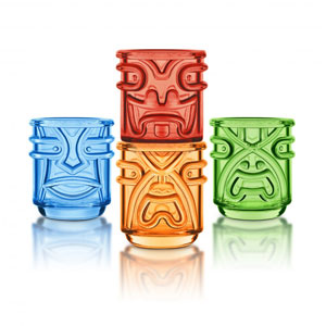 Final Touch Coloured Tiki Tumblers 12.5oz / 355ml