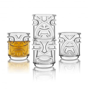 Final Touch Tiki Shot Glasses Clear 2oz / 60ml