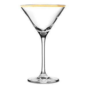 City Martini Glasses Gold Rim 7.25oz / 200ml