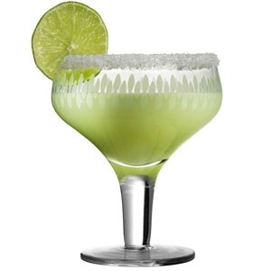 Urban Bar Retro Margarita Engraved Glasses 9.9oz / 280ml