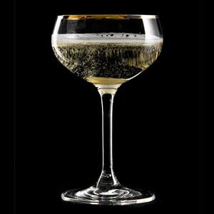 Urban Bar Retro Gold Rim Coupe Glasses 7.4oz / 210ml