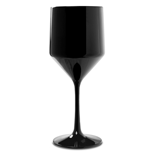 Premium Unbreakable Modern Black Wine Glasses 16oz / 450ml
