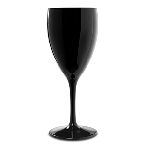 Premium Unbreakable Black Wine Glasses 12oz / 345ml