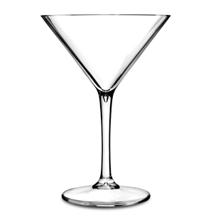 Premium Unbreakable Clear Martini Cocktail Glasses 8oz / 230ml
