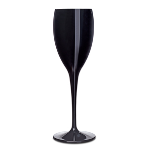 Premium Unbreakable Black Champagne Flutes 6.5oz / 175ml
