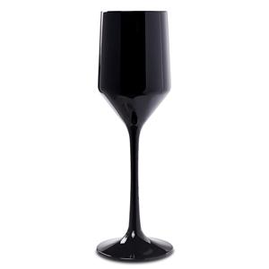Premium Unbreakable Modern Black Champagne Flutes 6.75oz / 190ml