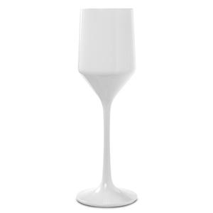Premium Unbreakable Modern White Champagne Flutes 6.75oz / 190ml