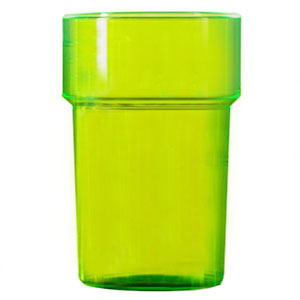 Econ Polystyrene Pint Glasses CE Neon Green 20oz / 568ml