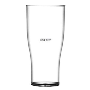 Elite Polycarbonate Nucleated Tulip Pint Glasses CE 20oz LCE At 10oz