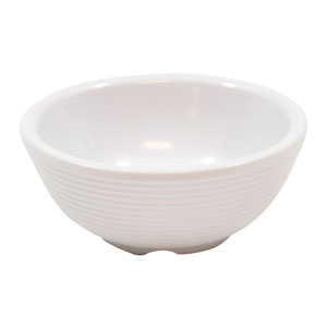 Melamine Ribbed Ramekin White 3oz / 90ml