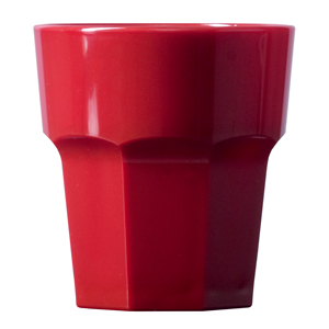 Elite Remedy Polycarbonate Rocks Tumblers Red 9oz / 256ml