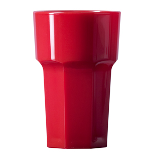 Elite Remedy Polycarbonate Hiball Tumblers CE Red 10oz / 284ml