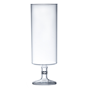 Econ Polystyrene Stacking Flutes Clear 7oz / 200ml
