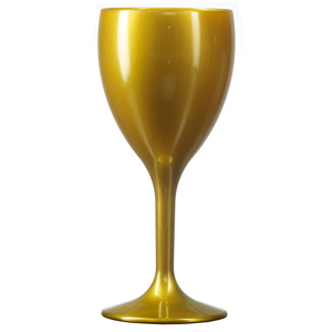 Elite Premium Polycarbonate Wine Glasses Gold 9oz / 255ml
