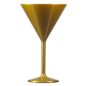 Elite Premium Polycarbonate Martini Glasses Gold 7oz / 200ml