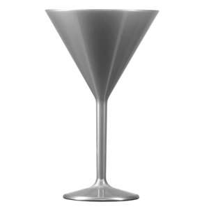 Elite Premium Polycarbonate Martini Glasses Silver 7oz / 200ml