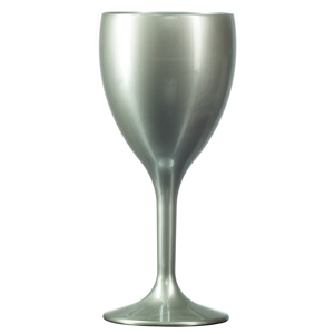 Elite Premium Polycarbonate Wine Glasses Silver 9oz / 255ml