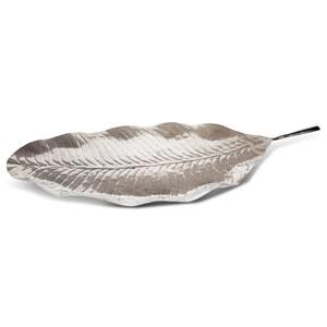 Silver Leaf Design Platter 35.4inch / 90cm